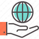 business partner, global, global partner, partner, service, world, world hand icon