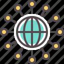 corporation, global, globe, network, world, worldwide icon