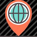 address, international, map, mark, navigator, pin icon