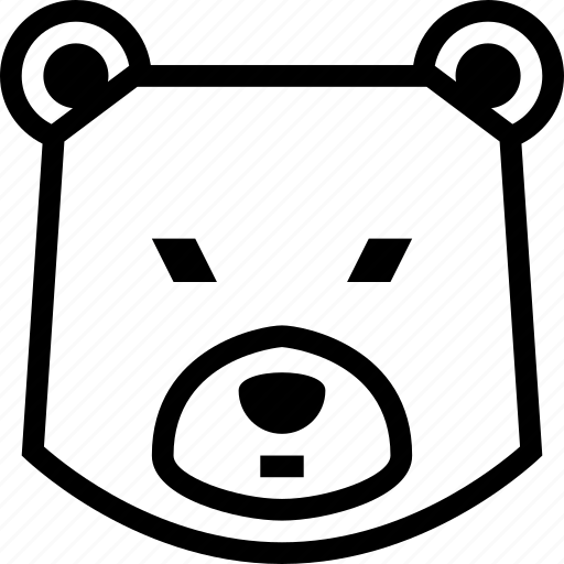 bear, bearish, stock market icon