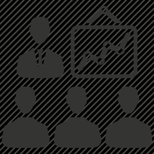 analysis, business meeting, meeting, presentation icon