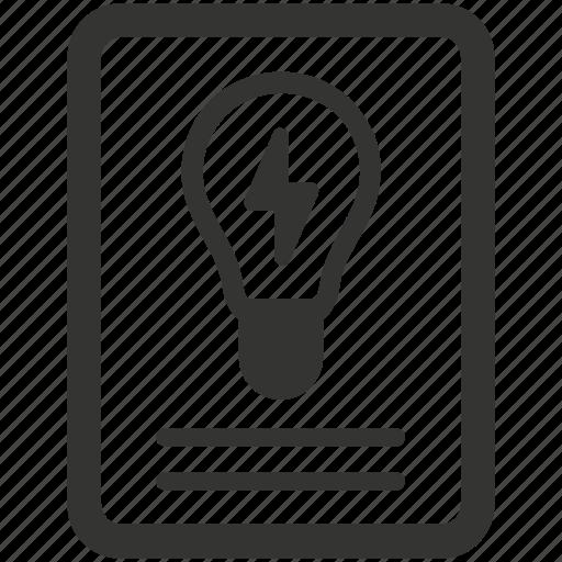 brainstorming, bulb, creativity, idea, light, planing list icon