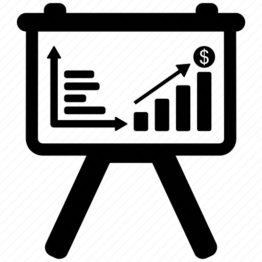 bar, graph, presentation, seo, target, training icon