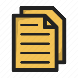 copy, document, duplicate, file, files, text icon