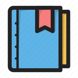 book, bookmark, diary, favorites, journal icon