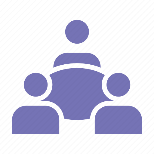business, group, meeting, office, solid icon