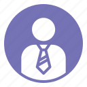 business, office, person, profile, solid, some one icon