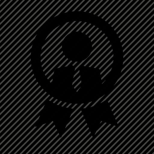 badge best employee business employment job management icon