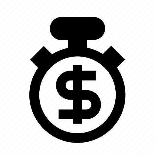 business, employment, job, management, time is money icon