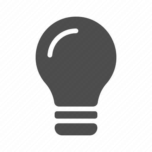 bright, bulb, idea, ideas, light, on icon
