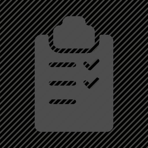 check, checklist, list, note, write icon