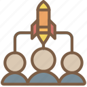 audience, business, start, start up, startup, target icon