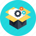 box, boxing, business, card, cardboard, cloud, delivery, download, email, email marketing, marketing, office, online business, online delivery, setting, settings, target, team, technology, unbox, upload icon