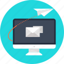 airplan, business, computing, electronic, electronics, email, envelope, letter, mail, message, paper, paper plan, password, plan, send, sent, sms, text, travel, traveling icon