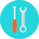 business, cogwheel, configuration, edit, edit tools, garage, gear, home rapair, improvement, pencil, rapair, repairing, screwdriver, seo, setting, settings, tool, web, working, wrench icon