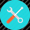 business, cogwheel, configuration, edit, edit tools, garage, gear, home repair, improvement, pencil, repair, repairing, screwdriver, seo, setting, settings, tool, web, working, wrench icon
