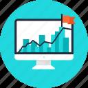 analysis, analytics, business, business plan, chart, data, data analytics, flag, hope, line chart, office, plan, planning, red flag, statistics, success, target, team, teamwork, work, working icon