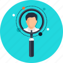 business, digital business, digital marketing, glass, information, luope, magnify, magnifying, man, manager, men, online business, online manager, online marketing, profile, profile information, search, searching icon