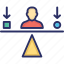 assessment, balance, comparison, potential, self actualization