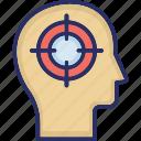 attention, emphasis, focus, head, mind