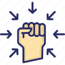 autonomy, fist, hand, power, willpower