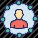 authority, control, leadership, management, responsibility icon