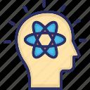 atom, head, mental health, mind, psychology