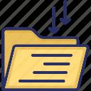 archives, documents, file folder, folder, inbox