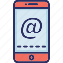 application, arroba, mail app, mobile, mobile app