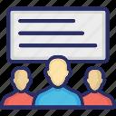 coaching, lecture, meeting, seminar, training