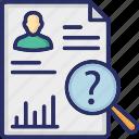 cv, job, job search, magnifier, search resume