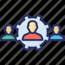 cog, collaboration, organization, team, work management, workforce management