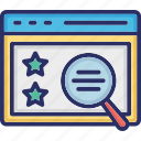 feedback, magnifier, ranking, review, star