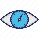 eye, look, monitoring, observe, visual