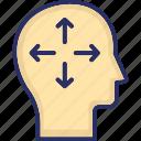 brainstorming, development, head, mind, mind transformation