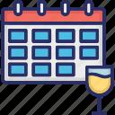 annual event, calendar, celebration, corporate events, drink glass