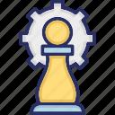 chess, chess paws, cog, mastery, strategic management