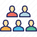 collaboration, group, network, participants, team, users