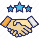 collaborate, cooperate, cooperation, partnership, shakehand icon