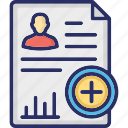 add document, add file, add resume, cv, new document