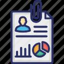 expertise, job application, pie graph, resume