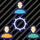 cogwheel, management, organization, team, teamwork