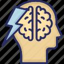 brain, brainstorming, intelligence, mind, thunder