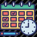 agenda, calendar, date, schedule, timetable