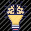 brain, brainstorming, bulb, imagination, power of imagination