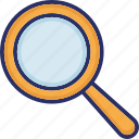 loupe, magnifier, magnifying lens, search tool, searching