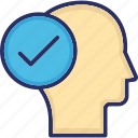 active position, head, intelligent, smart, tick