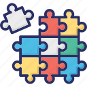 confirm, jigsaw, puzzle, strategy, together