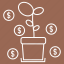 business, finance, fundraising, growth, money, process, startup icon