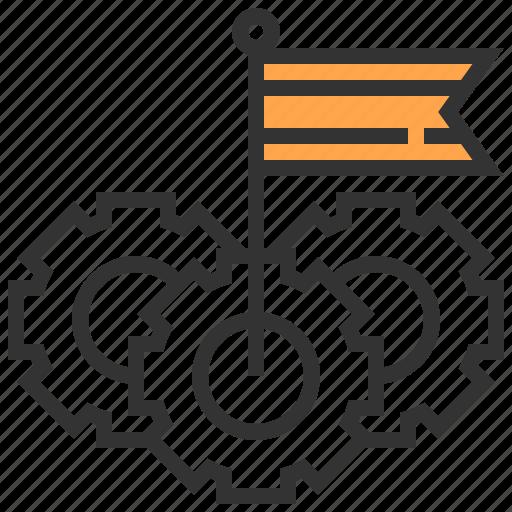 analysis, business, creative, finance, flag, marketing, strategy icon